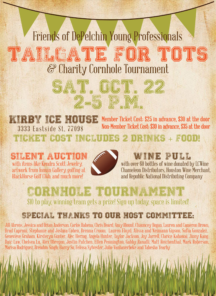 Friends of DePelchin Young Professionals Tailgate for Tots