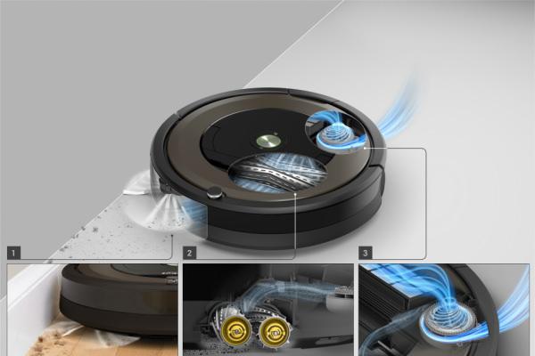 ロボット掃除機ルンバ890のAeroForceクリーニングシステム