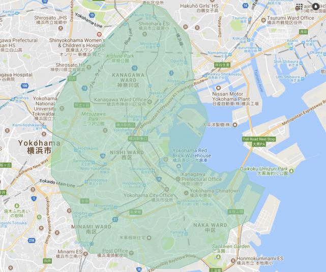 UberEATS_Yokohama対応エリア