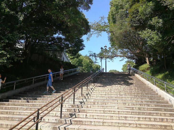 上野公園への階段