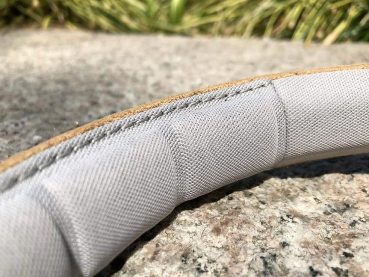 バングアンドオルフセンのノイズキャンセリング付きワイヤレスヘッドホンbeoplay h9iナチュラルの柔らかいヘッドバンド