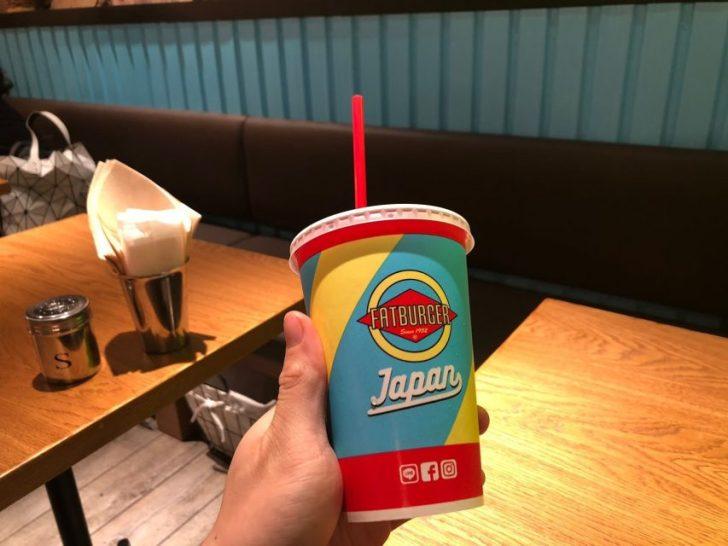 magnet渋谷の7階mag7にあるfatburgerのドリンクカップ