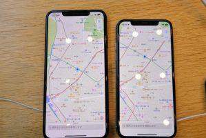 iphone_xsとxs/maxの画面表示率の違い