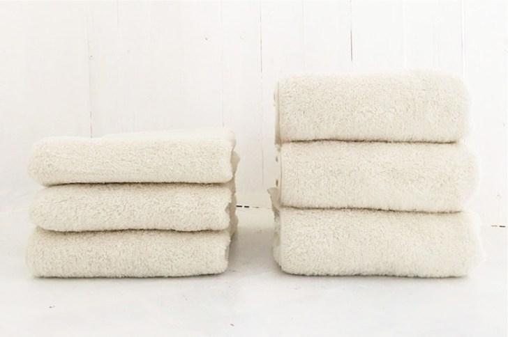 育てるタオルが洗うたびに育つ様子