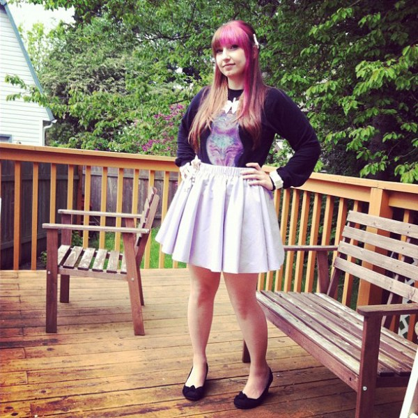 Lavender Skirt and Glitterhell Shirt