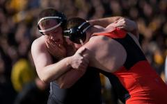 Iowa's heavyweight Sam Stoll is back for business