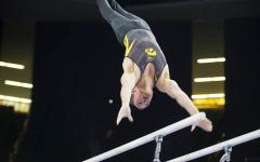 Hawkeye gymnasts keep it close, but fall to Nebraska