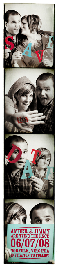 Photo Booth Save The Date Card