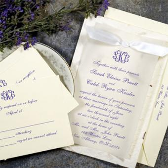 Purple Handmade Invitation Kit From Gartner Studios This Is The One We For Our