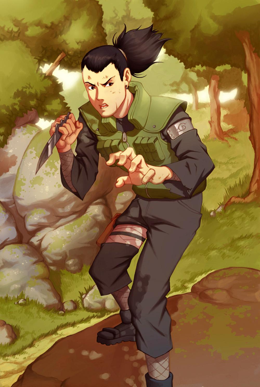 Shikamaru Nara Team Asuma Daily Anime Art