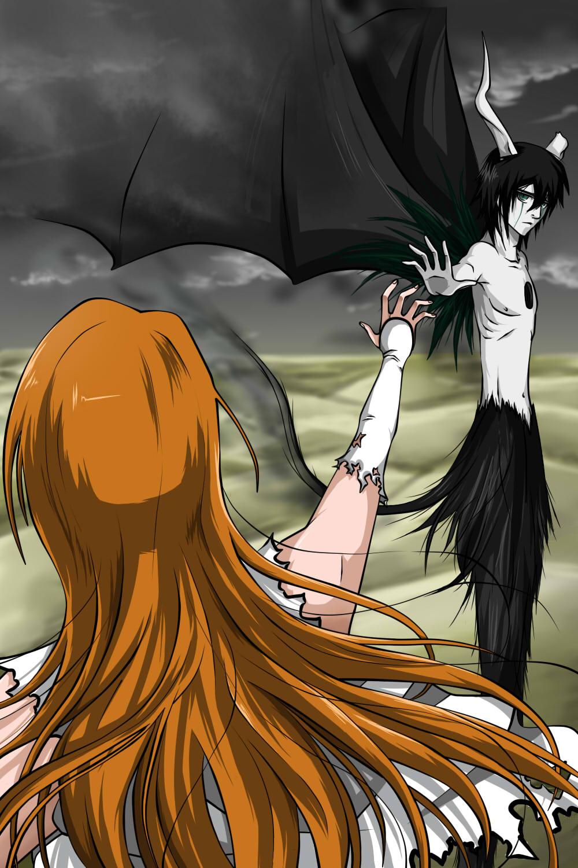 Ulquiorra Cifer And Orihime Inoue Daily Anime Art