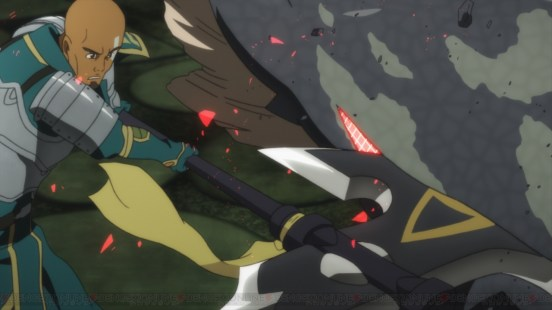 Sword Art Online Player damages monster