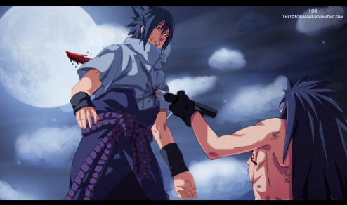 Naruto 661 Sasuke is stabbed by The103Orjagrat
