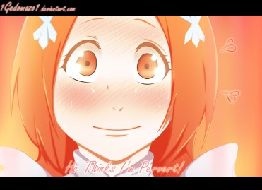 Bleach 589 Orihime blushes by 1gedomazo1