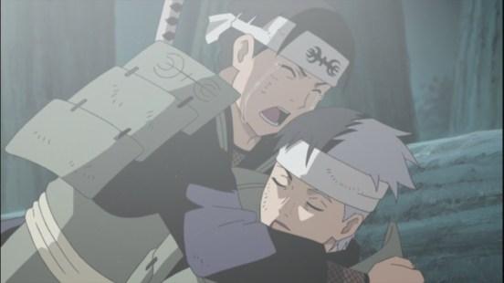 Hashirama cries at Itama's death