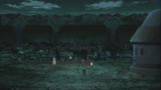 Hokage's and Sasuke look at village