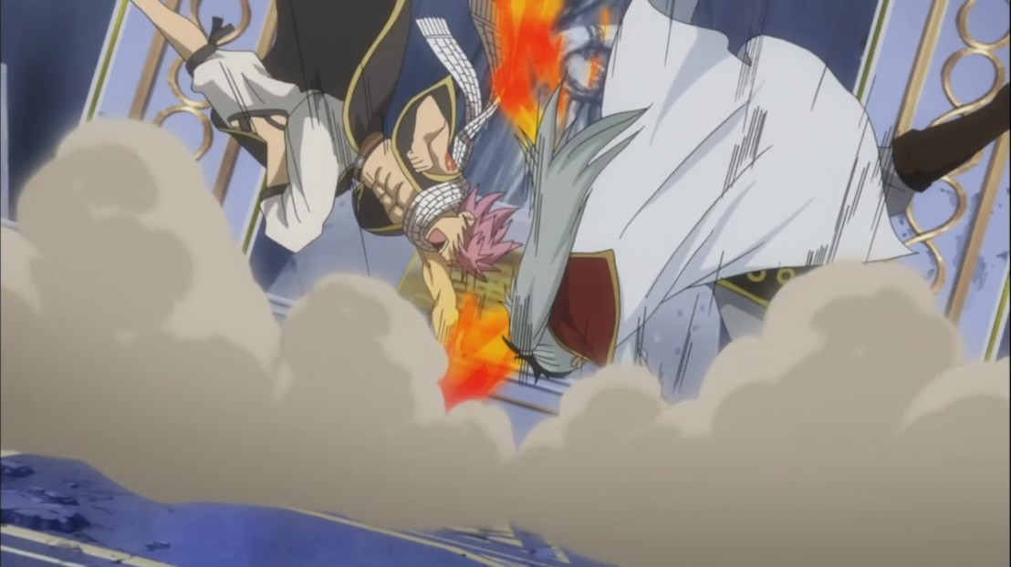 Natsu smacks Future Rogue