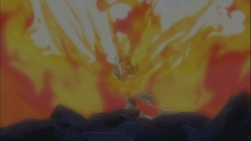 Natsu's Fire Lightning Mode against Future Rogue