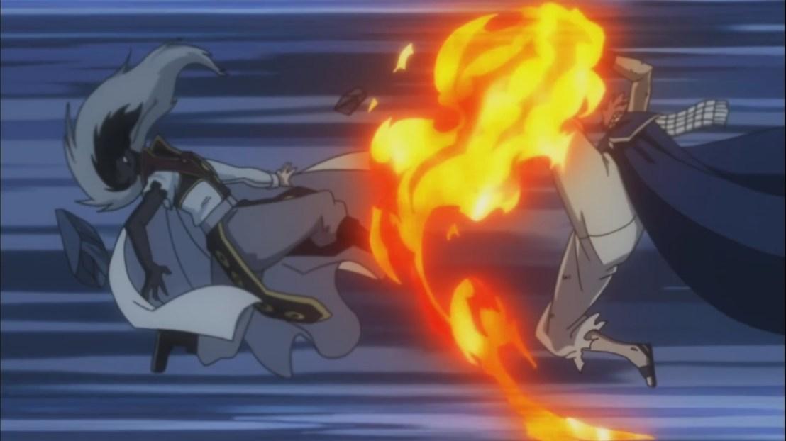Natsu kicks Future Rogue