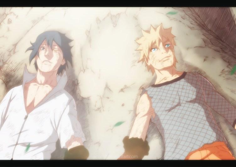 Naruto 698 Naruto and Sasuke by aconst
