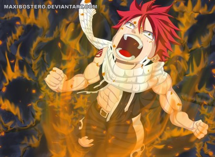 Fairy Tail 415 Natsu Angry by maxibostero