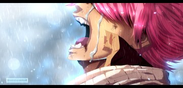 Fairy Tail 415 Natsu Crying by devioussketcher