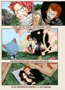 Fairy Tail 417 Natsu Happy Gildarts by genezizpa