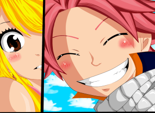 Fairy Tail 419 Natsu and Lucy by Frosch-Sama08