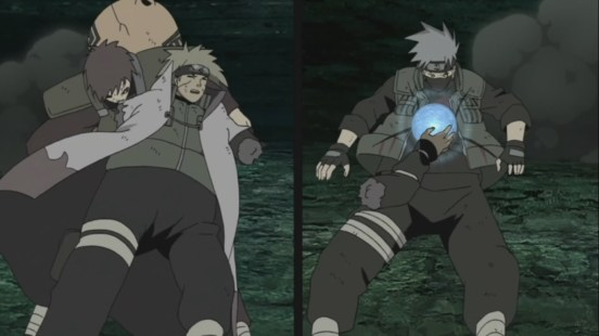 Gaara Kakashi Minato all hit by Madara