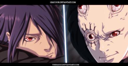 Naruto Gaiden 5 Sasuke and Unknown Uchiha by Gray-Dous