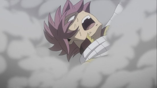 Natsu unconsious by Jackal explosion