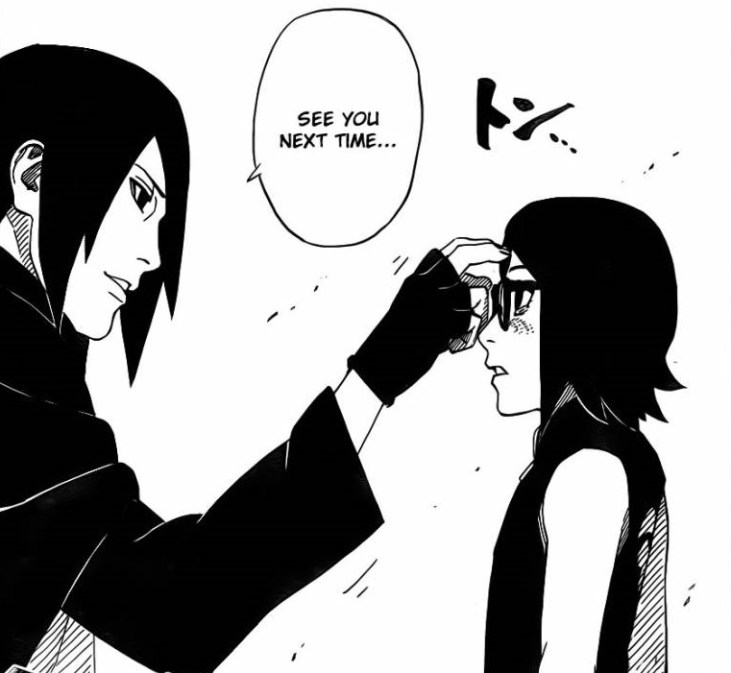 Sasuke will see Sarada soon