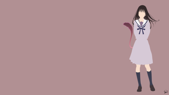 Iki Hiyori Noragami Minimalist Wallpaper by greenmapple17