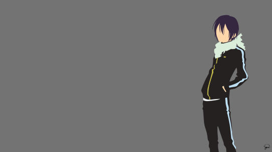 Yato Noragami Minimalist Wallpaper by greenmapple17