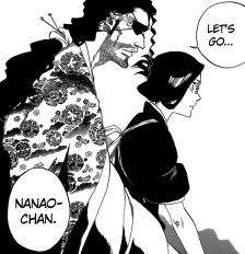 Shunsui aids Nanao