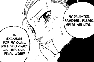 Gramy begs for Brandish's life