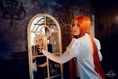Orihime and Hollow Inoue Cosplay by Izefant