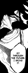 Yhwach broke Ichigo's Bankai through the future