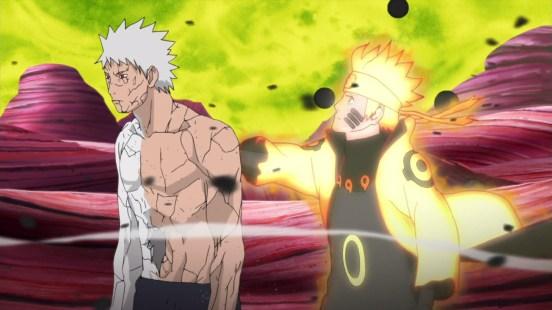 Naruto tries to help Obito