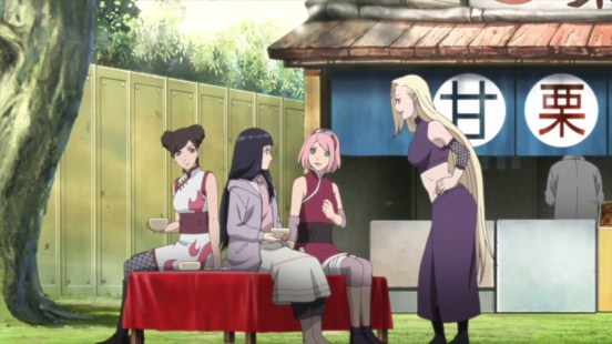 Hinata meets with her friends