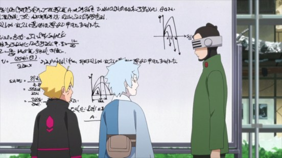 Shino teaches Mitsuki and Boruto