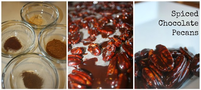 Spiced Chocolate Pecans 9