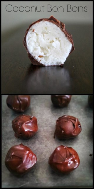 This Coconut Bon Bons Recipe is perfect for the holidays. Candied creamy coconut with bits of walnuts rolled into a ball then dipped in chocolate.