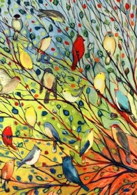 Birds Garden Flag