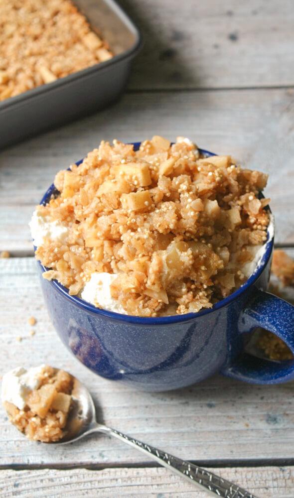 Apple Cinnamon Quinoa Oatmeal Breakfast