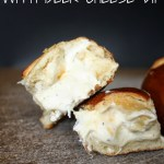 Beer Cheese Dip Stuffed Pretzel Buns 2