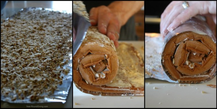 How to roll an apple log