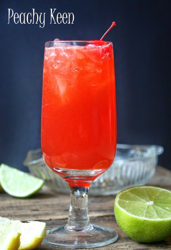 Rum cocktail with peach nectar and other sweet flavors that makes it the perfect summer cocktail.