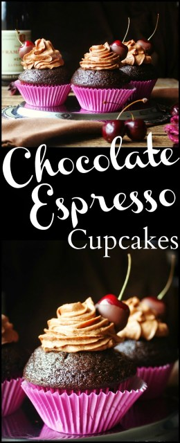 Chocolate Espresso Cupcakes with Chocolate Covered Cherries 5