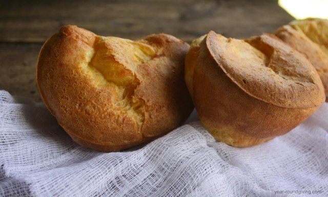Sage Popovers made in a muffin tin